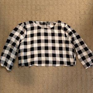 American apparel gingham crop top